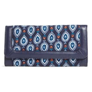 Vera Bradley Tri-Fold Wallet in Marrakesh Pattern